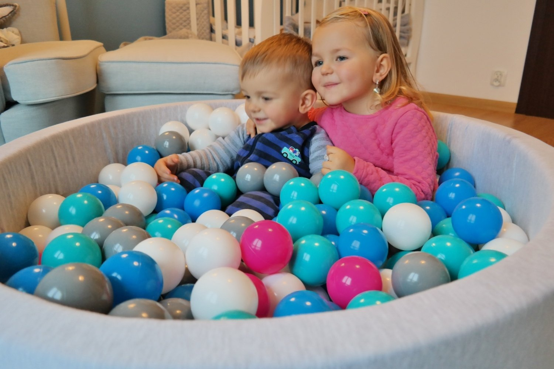 Farbe der B/älle: wei/ß Velinda B/ällebad Ballpool Kugelbad B/ällchenbad B/ällchenpool Kinder Pool mit 150 B/ällen
