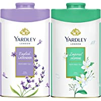 Yardley London Twin Talc Floral (2x250gm)English Lavender + Imperial Jasmine