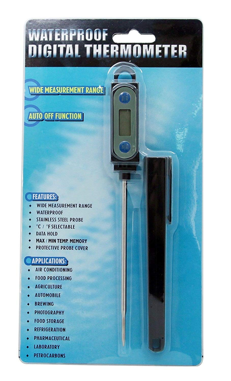 ToppKitchen Accurate Instant Reading Waterproof Digital Thermometer for All Grain Brewers Beer Brewing