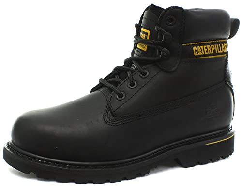 Caterpillar Holton - Botas de seguridad de nobuk, color negro, talla 6 UK