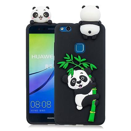 JIENI Funda para Huawei P10 Lite Caso,[Negro] Suave Silicona ...
