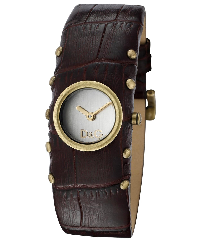 D&G Dolce&Gabbana Damen-Armbanduhr COTTAGE IPG SLV DIAL BROWN STRAP DW0352