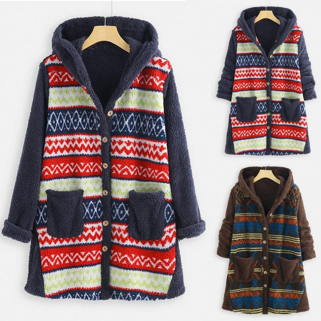Eduavar Clothing Warm Hooded Casual Long Sleeve Denim Jacket Long Jean Coat Outwear Overcoat S-XXXL