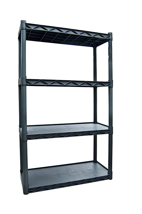 Plano Molding 904 Four Shelf Utility Shelving Dark Gray
