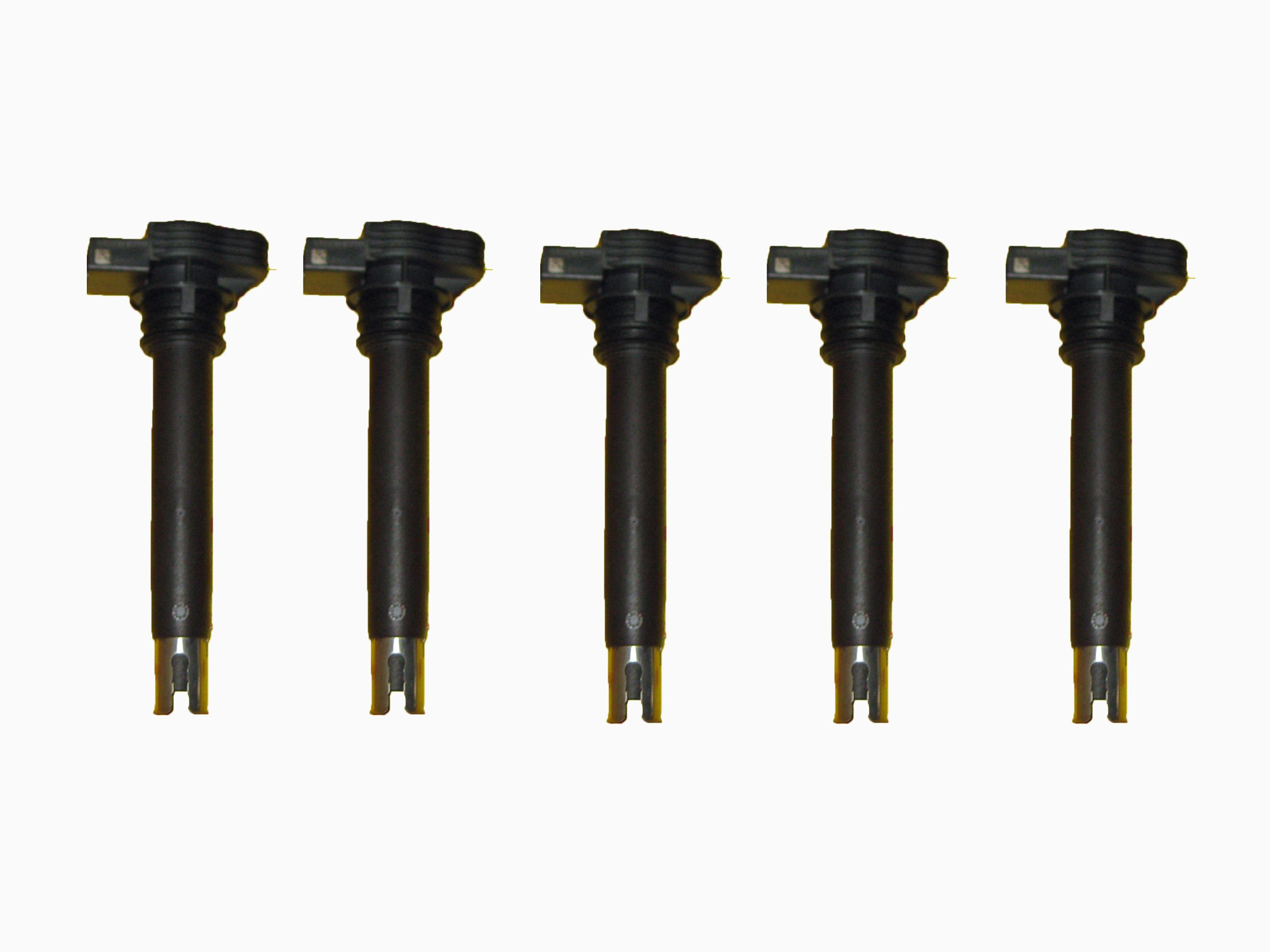 5 Piece Set of Bosch OEM Ignition Coils # 0221604115 - Audi / VW # 06H905115B / 07K905715F by Bosch