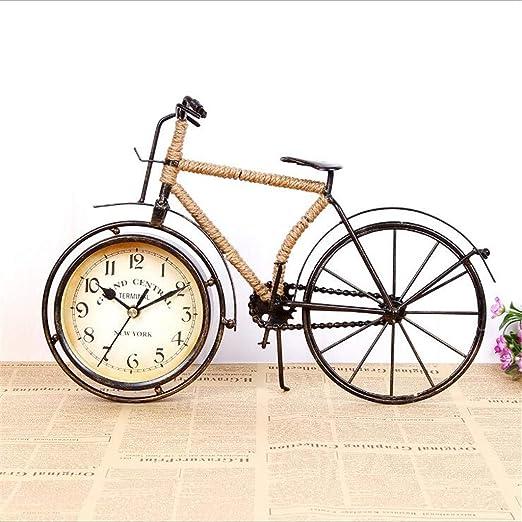 Reloj De Mesa De Bicicleta Retro Creativo con Cuerda De Cáñamo ...