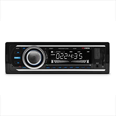Car Stereo, XO Vision Wireless Bluetooth Car Stereo Receiver with 20 watts x 4, USB Port , SD Card Slot, and MP3 and FM [ XD107 ],BLACK: Car Electronics