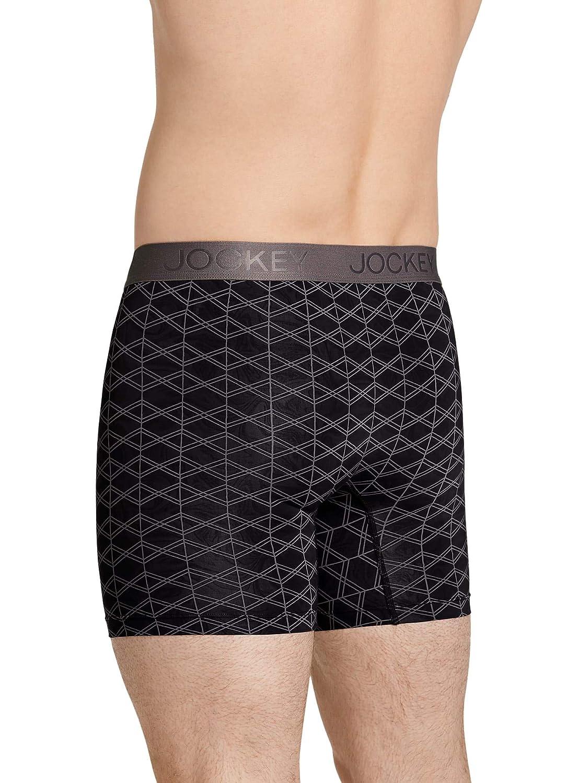 Jockey Mens Underwear Lightweight Travel Microfiber Boxer Brief
