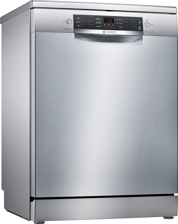 Bosch Serie 4 SMS46MI19E lavavajilla Independiente 14 cubiertos A++ - Lavavajillas (Independiente, Acero inoxidable, Tamaño completo (60 cm), Acero inoxidable, Botones, 1,75 m)
