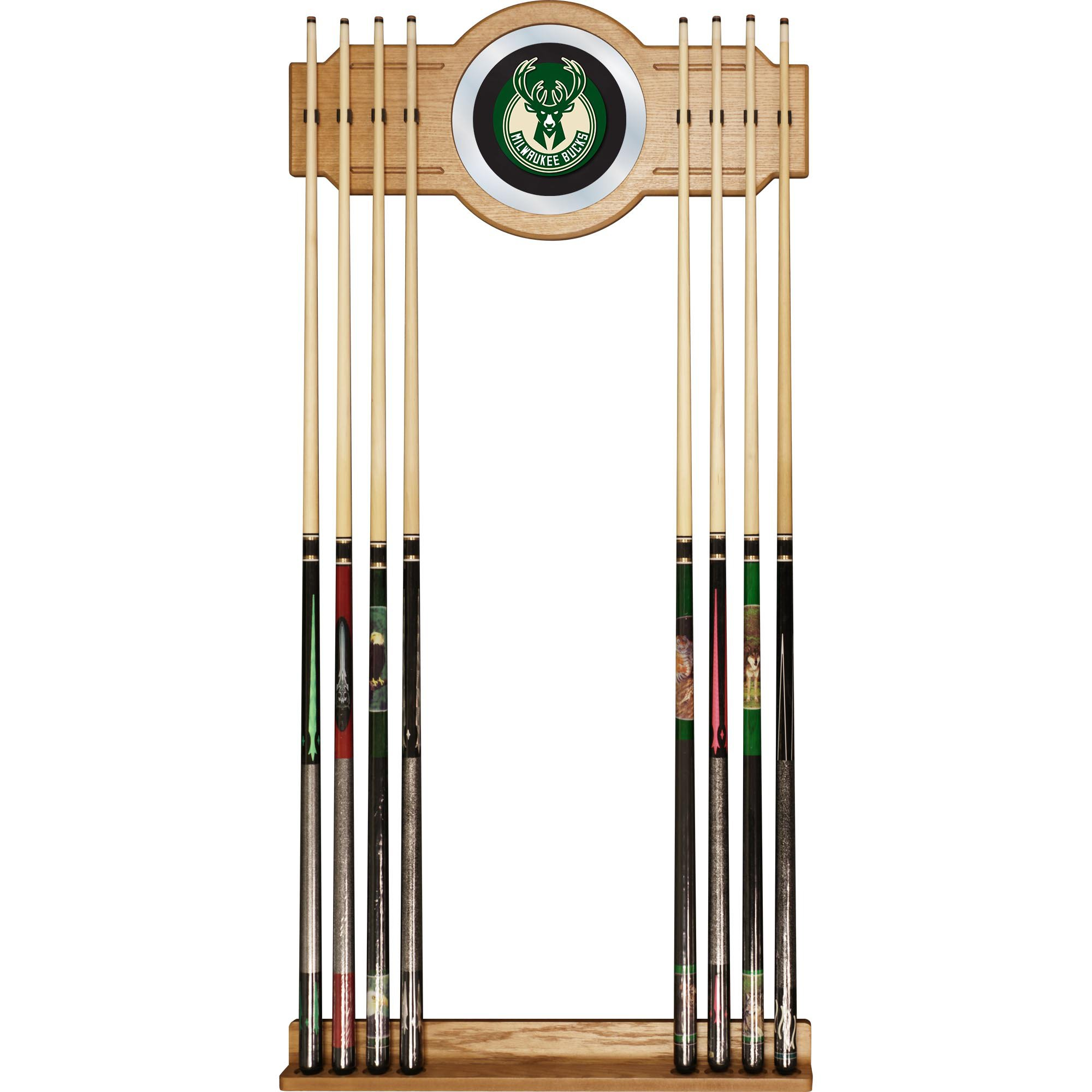 Trademark Gameroom NBA Milwaukee Bucks Billiard Cue Rack with Mirror by Trademark Gameroom