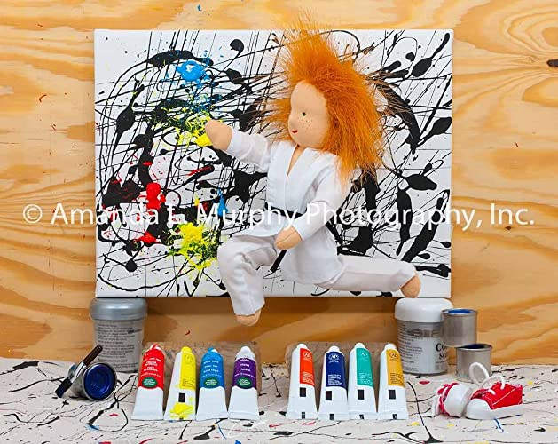 amazon com fun wall art kickin the pollocks fine art