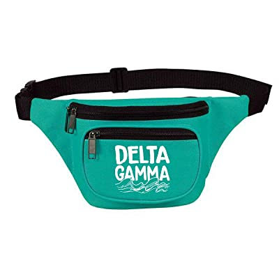 Delta Gamma Three Zipper Fanny Pack