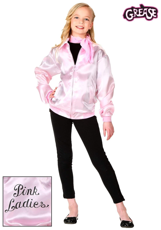 Niñas Grease Pink Ladies chaqueta - XS: Amazon.es: Ropa y ...