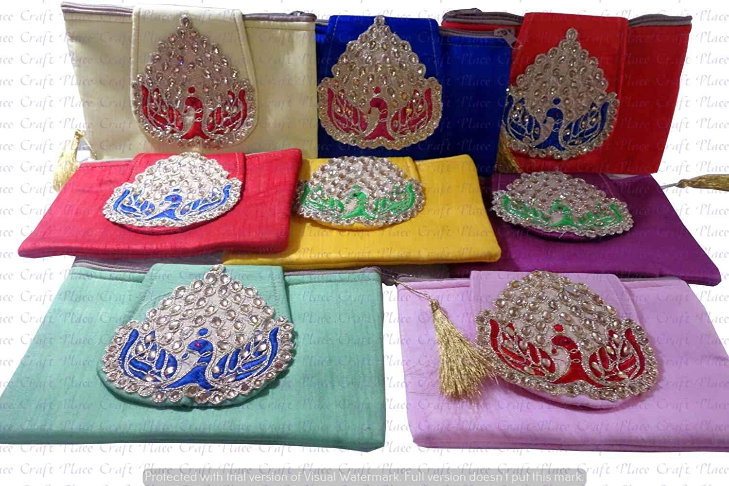Indian Wholesale 20 pc lot Bulk Mandala Hand Bag Ethnic Clutches Purse Shoulder For Ladies by Craft Place AAB-78