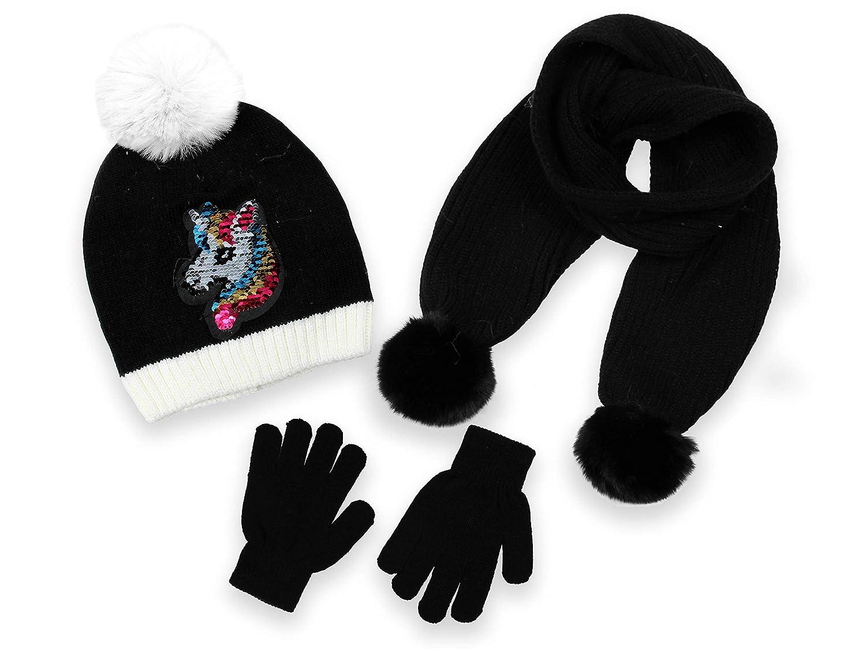 3 Piece Set Scarf and Glove Set Minus 5/° by Polar Wear Girls Winter Beanie Hat