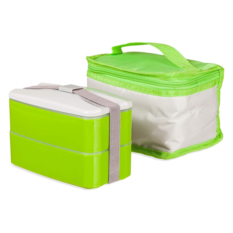Bento lunch box contenitore per alimenti per mangiare fuori casa, con borsa termica per il pranzo lavabile in lavatrice, di facile pulizia, il grasso non aderisce BEONFIVE