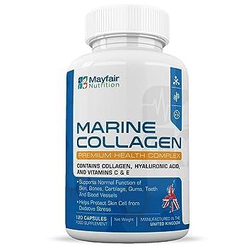 Complejo de colágeno marino 630mg | 120 grageas para la salud de las células cutáneas y