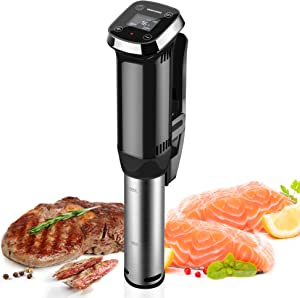 REDMOND Sous Vide Cooker Immersion Circulator, Stainless Steel Sous Vide Machine with Accurate Temperature and Touchscreen Timer Control, Black, SV005
