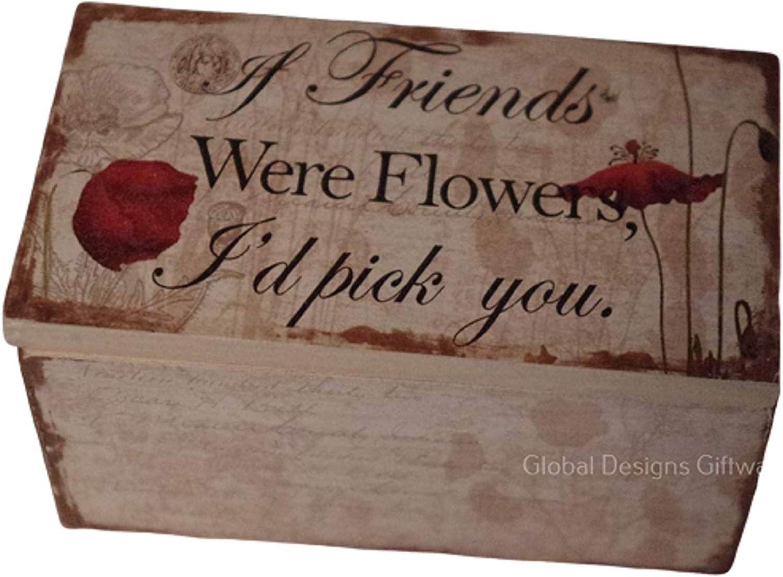 Global Designs Caja de Recuerdos pequeña para Amapola de Amigos, Regalo de cumpleaños de la Amistad SG1683: Amazon.es: Hogar