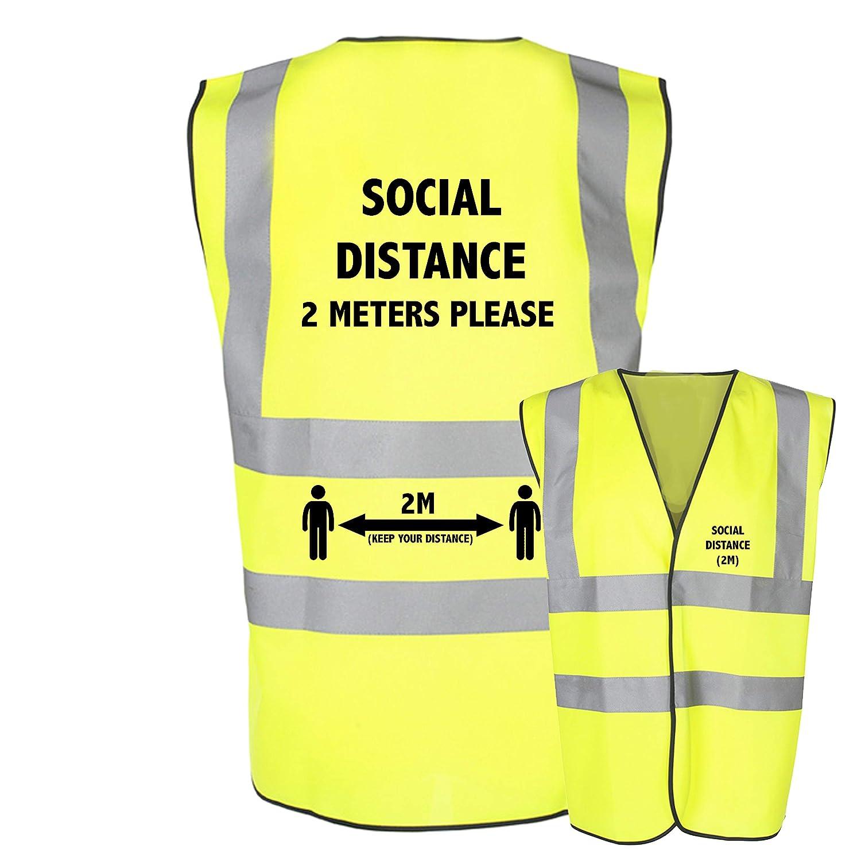 High Visibility Safety Youth Kids Keep Social Distancing 2 Metre Hi Vis Vest