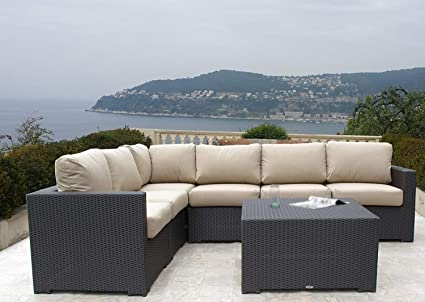 Amazon.com: Muebles de mimbre de resina, Patio al aire ...
