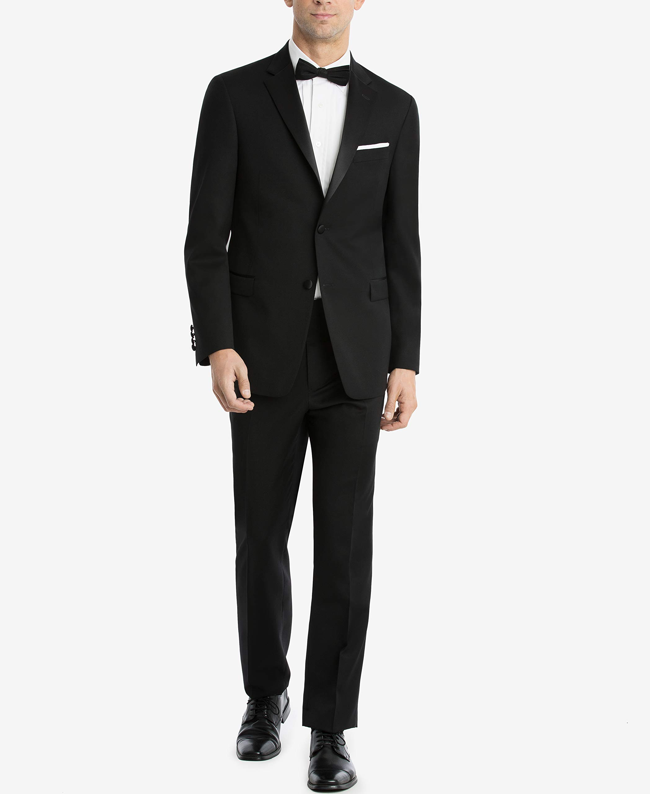 Tommy Hilfiger Men's Modern Fit Tuxedo Jacket, Black, 42R by Tommy Hilfiger
