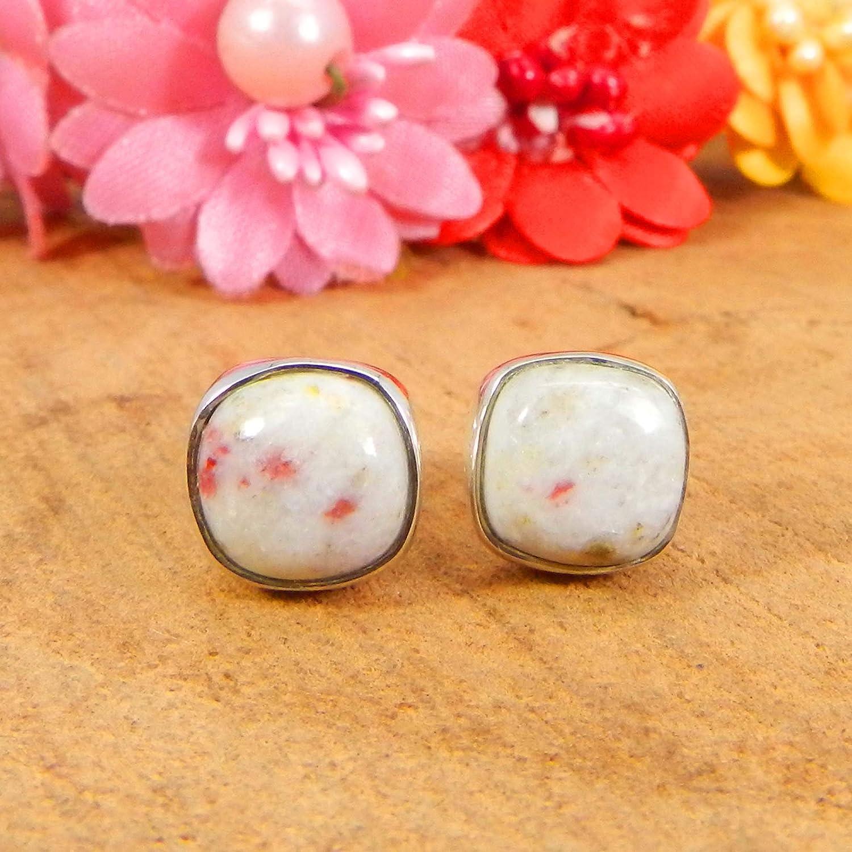 Gift for Her 925 Sterling Silver Gemstone Cushion Stud Earrings Amethyst Hydro, Black Ruthenium