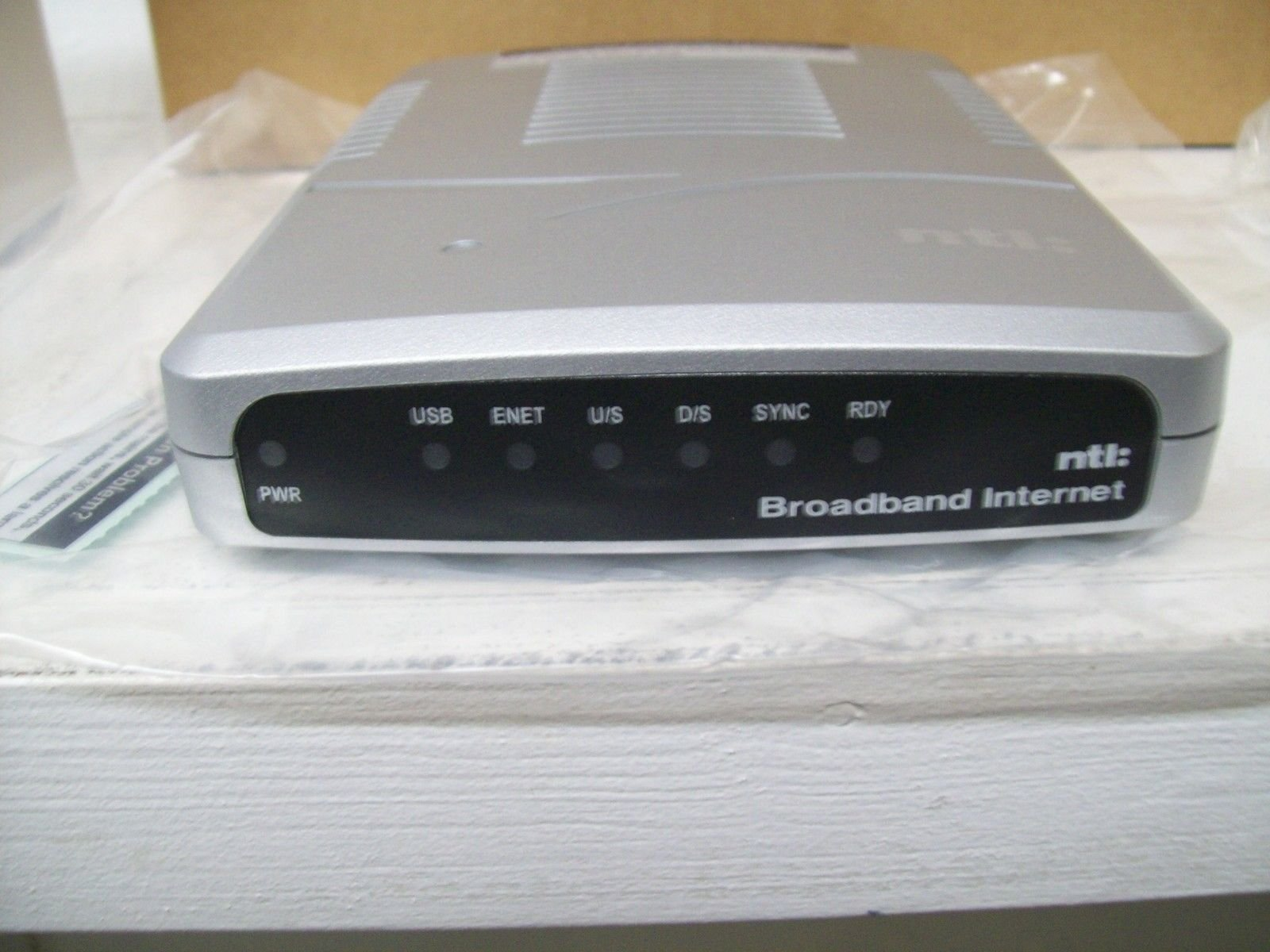 NTL 200 European Cable Modem Model # 08004EU w/Power Adapter & Leads by Ambit (Image #1)