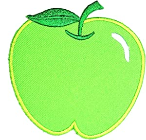 Green Apple Embroidered Applique Iron On Sew On Patch Apple Fruit Cartoon Kids Stickers Embroidery Iron On Sewing Logo Jacket Polo T- Shirt Hat Backpacks