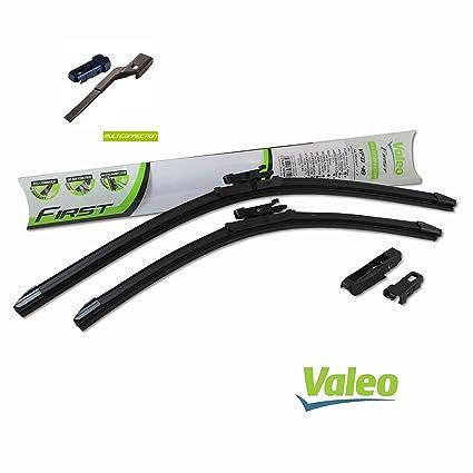 VALEO: Juego de 2 escobillas de limpiaparabrisas planos con rascadores 65/35cm: Amazon.es: Coche y moto