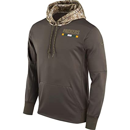 aa5836385 Image Unavailable. Image not available for. Color  Green Bay Packers 2017  Nike NFL Salute to Service Hoodie - Men s Size Large