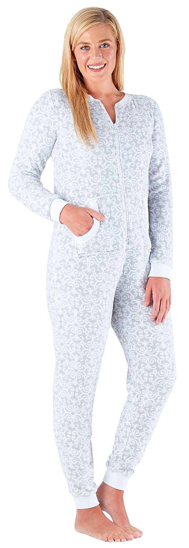 PajamaMania Women's Sleepwear Plush Fleece Non-Footed Onesie Pajamas