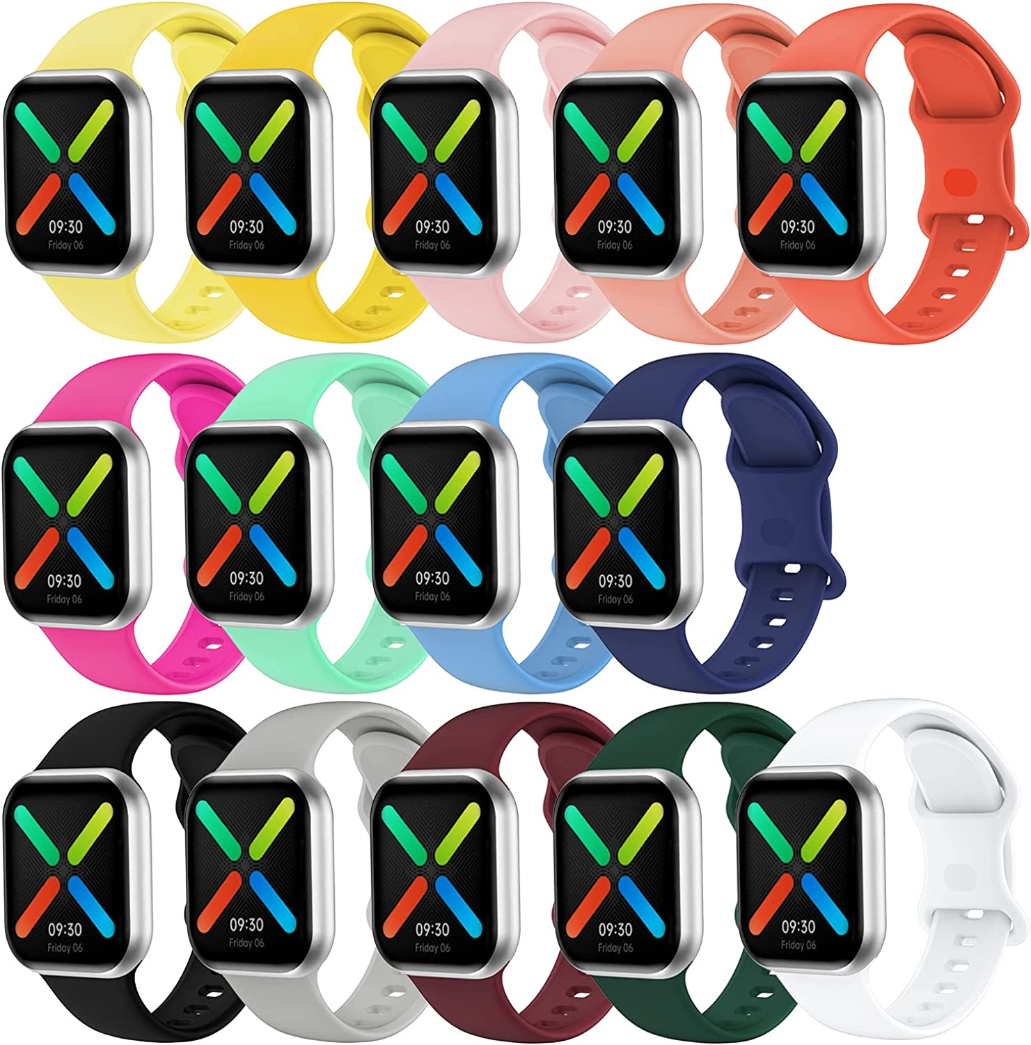 Watch Band Compatible for Apple Watch Band 38mm 40mm 42mm 44mm,SWHAS Soft Silicone Replacement Band Sport Wrist Strap for iWatch Series 6/5/4/3/2/1/SE