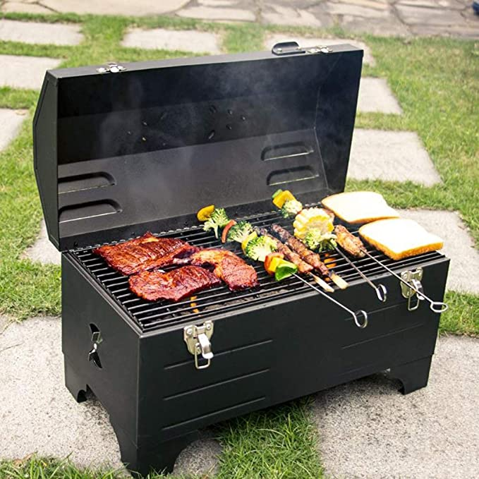 Amazon.com: SN Desk BBQ Grill, Outdoor Portable Charcoal ...