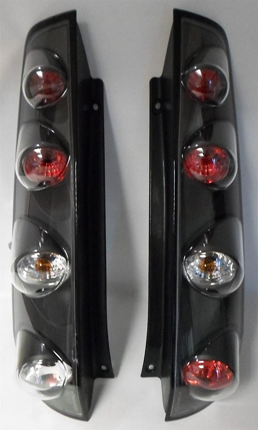 Black Style Rear Tail Lights Lamps Pair