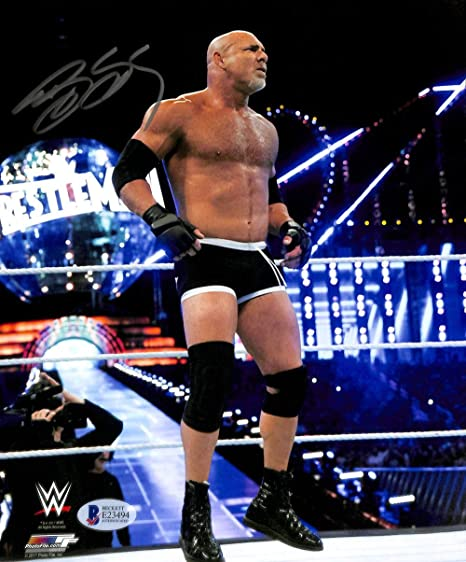 Bill Goldberg (Atlanta Falcons) Autographed Photo 8x10 WWE Beckett