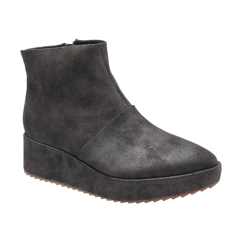 Black Antelope Women's 211 Suede Easy Flatform shoes