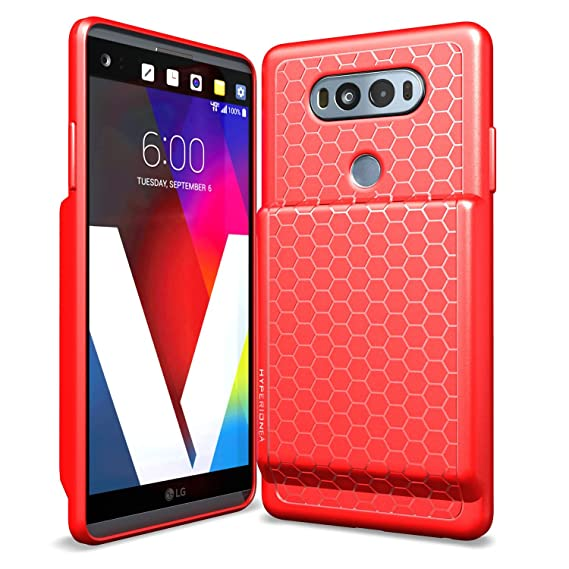 info for 525c6 0c981 Hyperion LG V20 Extended Battery Case With Honeycomb TPU Design And Active  Shock Absorption (Red)