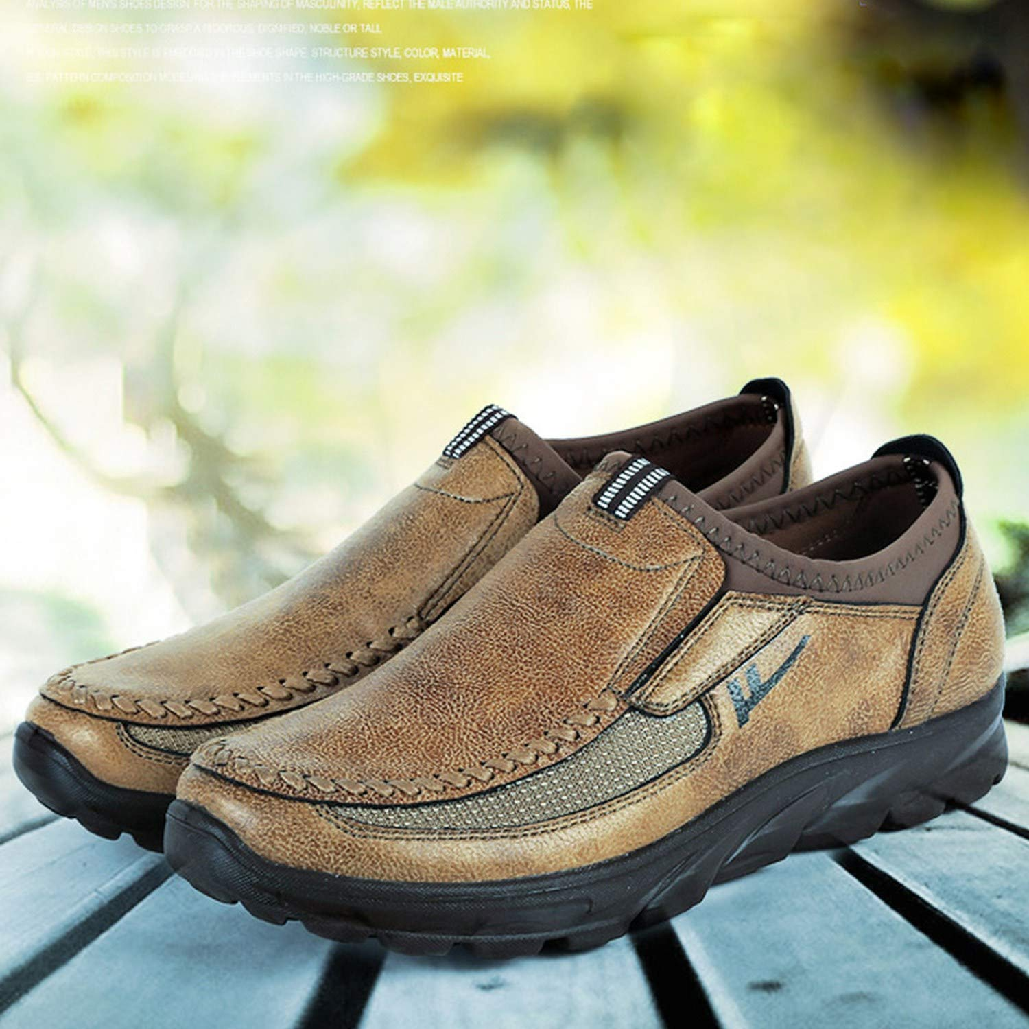 Faux Suede Shoes Breathable Single Footwear Slip On Sole Loafers Male Casual Outdoor Sneaker Anti Slip,Yellow,13.5,Italy