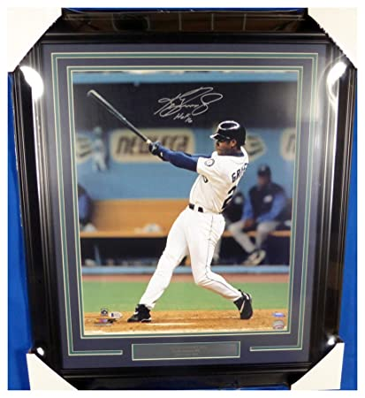 53eb8ed4f Image Unavailable. Image not available for. Color  Ken Griffey Jr. Autographed  Signed Framed 16x20 Photo HOF 16 HR Swing Seattle Mariners -
