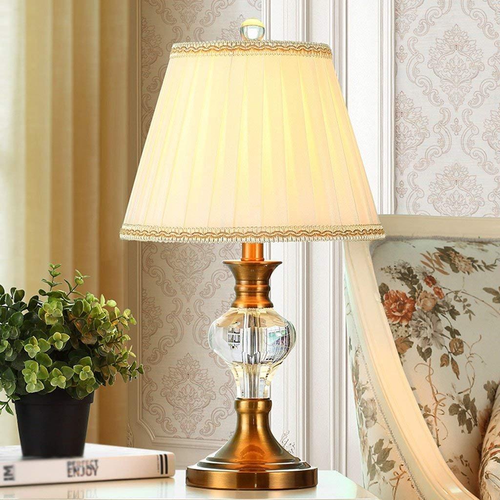 IG Europäischen Kristall Tischlampe Schlafzimmer Nachttischlampe Einfache Modernen Amerikanischen Stil Mode Schreibtischlampe Hochzeit Dekoration