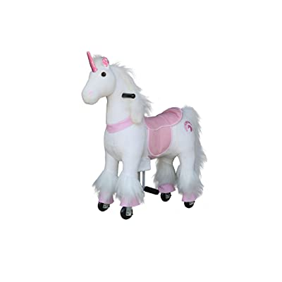 Medallion - My Pony Ride On Real Walking Horse for Children 3 to 6 Years Old or Up to 65 Pounds (Color Small Pink Unicorn): Toys & Games