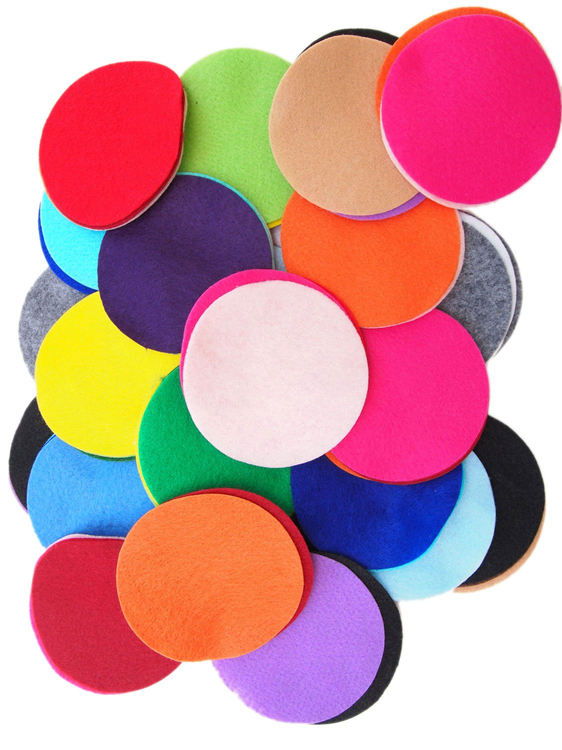 Playfully Ever After 4 Inch Mixed Color Assortment 100 pc Felt Craft Circles PEA-FELT-4In-100pcMix