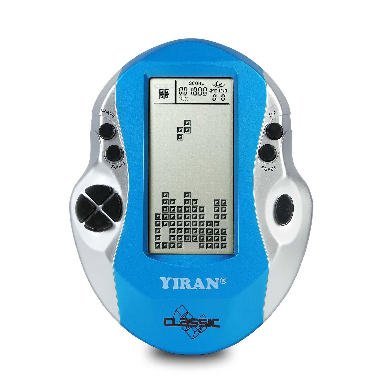 Klassische Tetris Spielkonsole Handheld Spiel, Big Screen, Eingebaute 26 Spiele, gutes Geschenk für Kinder pädagogische Spielzeug (Light blue) TUTA
