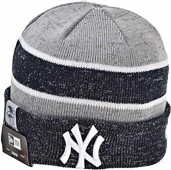 New Era New York Yankees MLB17 18 Sport Knit Mens Knit Beanie Hat Grey//Navy 11453133