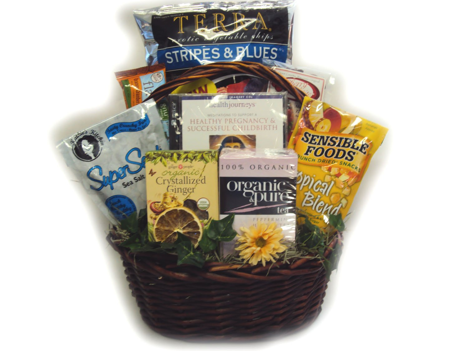 Healthy Pregnancy Guided Imagery Gift Basket by Well Baskets