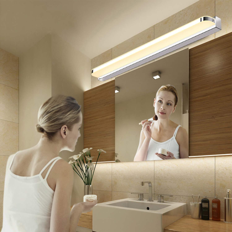 Yafido Aplique Espejo Ba/ño Interior LED 12W luz Ba/ño L/ámpara de Pared Espejo Iluminaci/ón para Maquillaje Blanco Neutro 4000K 1000LM 50CM No-regulable IP44