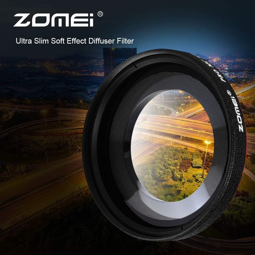 77mm Serounder Ultra-Thin Wide Angle Lens Filter,0.45X Optical Glass Ultra Slim Wide Angle Protective Lens Filter,Scratch-Resistant Waterproof Premium Photography Accessory for DSLR Camera