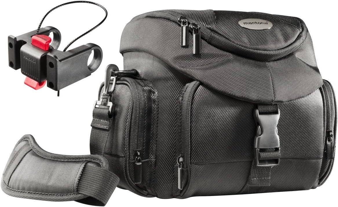 Mantona Set Premium Biker Photo Bag with Adapter