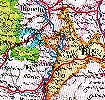 General Karte Deutsches Reich Deutschland 1910 Zwei Grosskarten